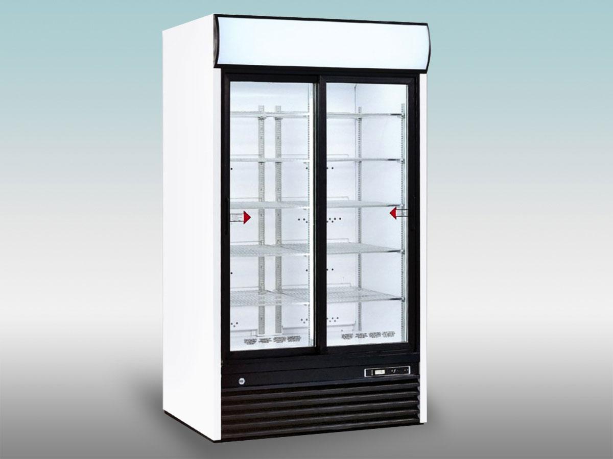 Vitrine verticale positive a portes eis 104<hr >Caractéristiques Techniques<hr > Dimensions extérieures : 1110 x 770 x 2000<hr > Dimensions intérieures : 1050 x 555 x 1328<hr > Capacité en litres : 1040<hr > Surface d'exposition (en m2) : N/A<hr > Température d'application : Positif + 0 °C + 10 ° C<hr > Puissance électrique en fonctionnement (W) : 780<hr > Puissance électrique en dégivrage (W) : Naturel<hr > Eclairage : LED<hr > Poids (en kg) : 150<hr ><hr>Informations marchandises: Boisson / Charcuterie / Fromage / IV gamme / Sandwiches / Viande / Volailles<hr > Informations techniques : Dégivrage naturel / Eclairage LED/ Froid ventilé / Groupe de condensation incorporé